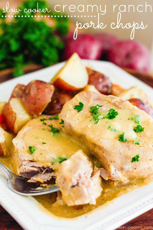 Slow Cooker Creamy Ranch Pork Chops