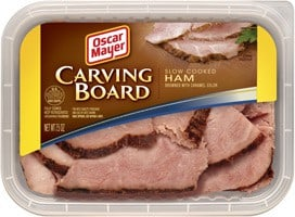Package of Oscar Mayer Carving Board Ham.