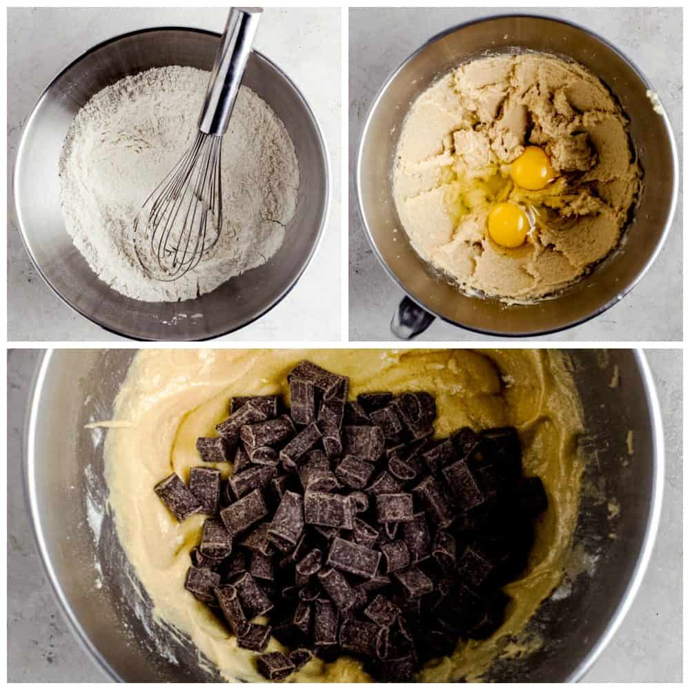 The process of making pudding cookies.