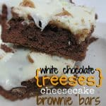 White Chocolate Reese's Peanut Butter Cheesecake Brownies