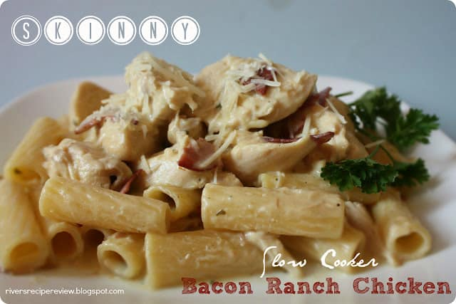Skinny Slow Cooker Bacon Ranch Chicken | The Recipe Critic