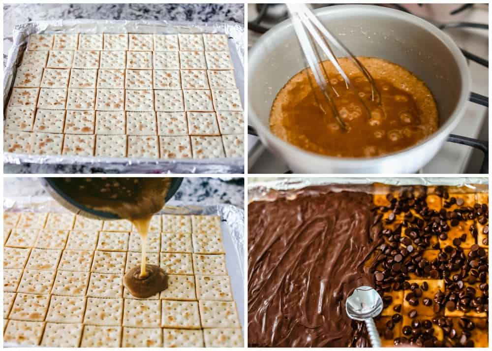 Steps to making Christmas crack