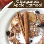Overnight Cinnamon Apple Oatmeal