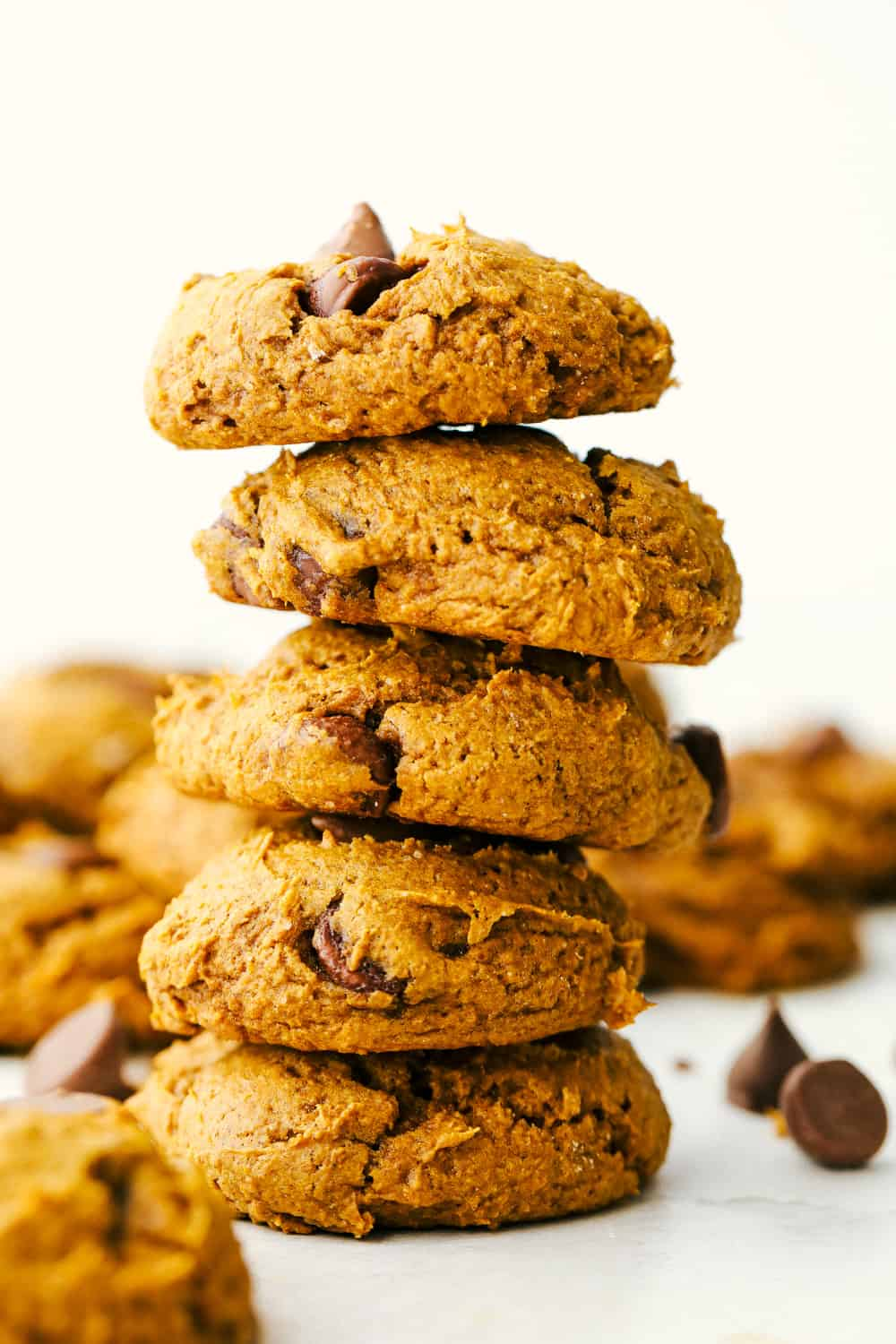 3 ingredient Pumpkin spiced Chocolate Chip cookies.