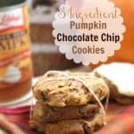 3 Ingredient Pumpkin Chocolate Chip Cookies