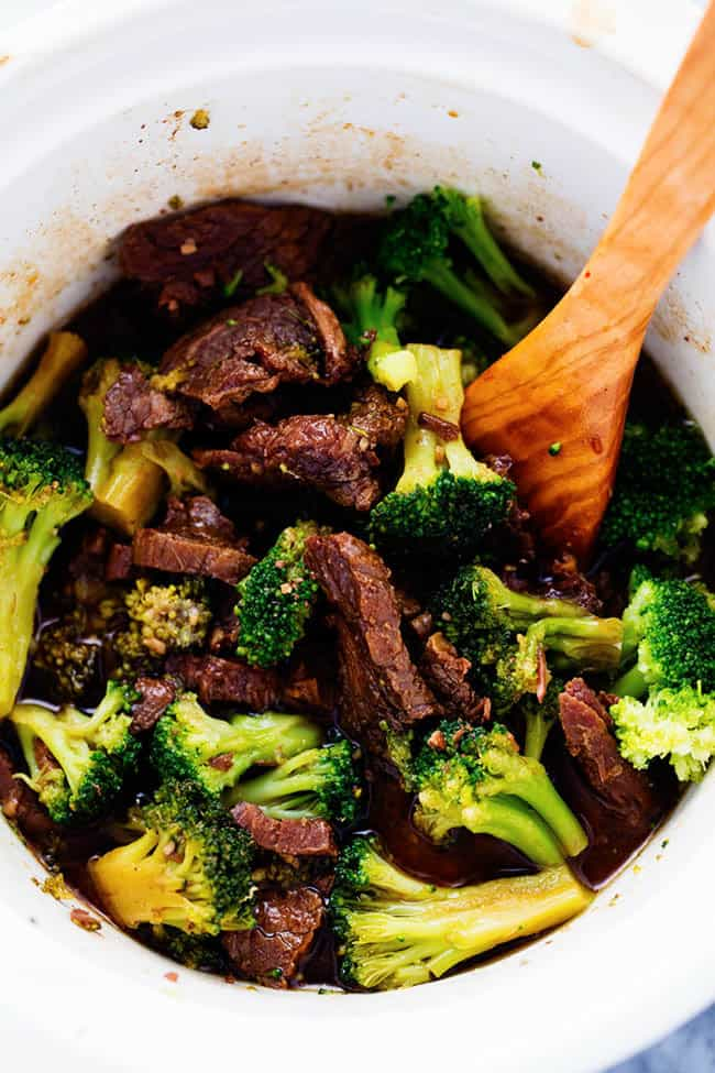 Slow Cooker Beef Recipes - Sow Cooked Beef and Broccoli