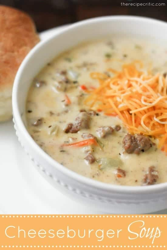 Cheeseburger soup photo