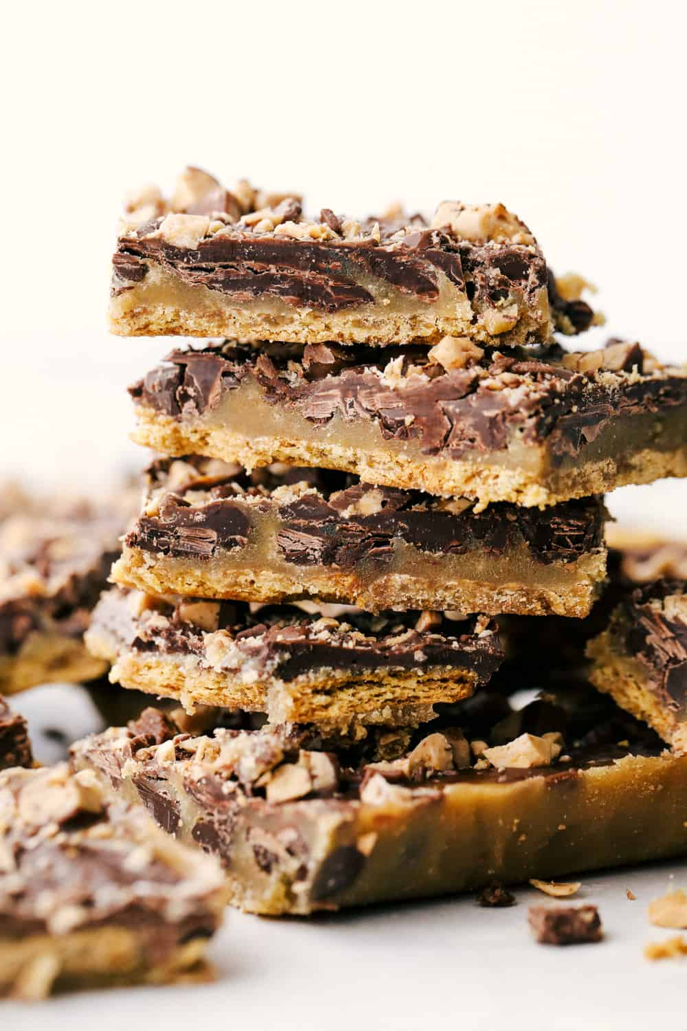 Crunchy, sweet and chewy Graham Cracker Toffee.