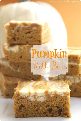 Pumpkin Roll bars in stacks of 4, 2, and 1.