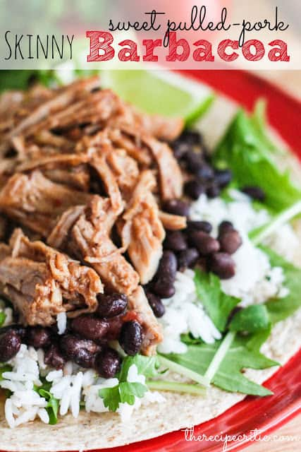 Slow Cooker Skinny Pulled Pork Barbacoa