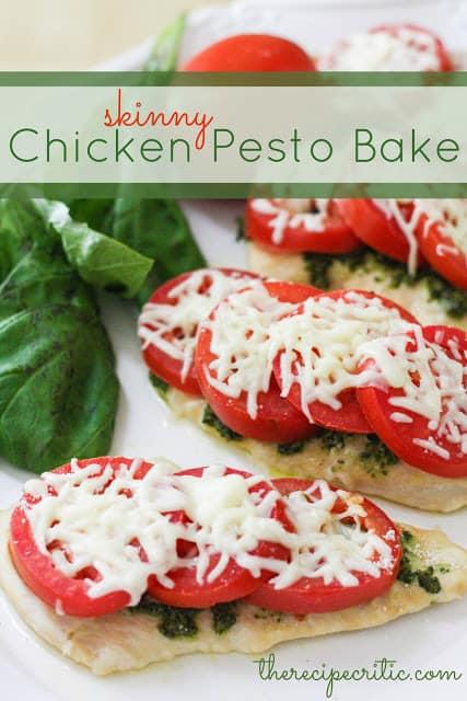 Skinny Chicken Pesto Bake | The Recipe Critic