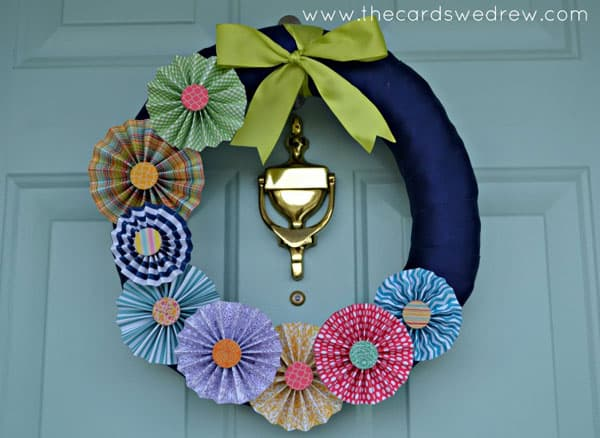 Spring Pinwheel Wreath