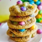 White Chocolate M&M's Pudding Cookies
