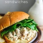 Slow Cooker Chicken Caesar Sandwiches