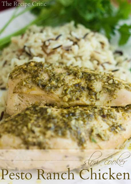 Slow Cooker Pesto Ranch Chicken | The Recipe Critic