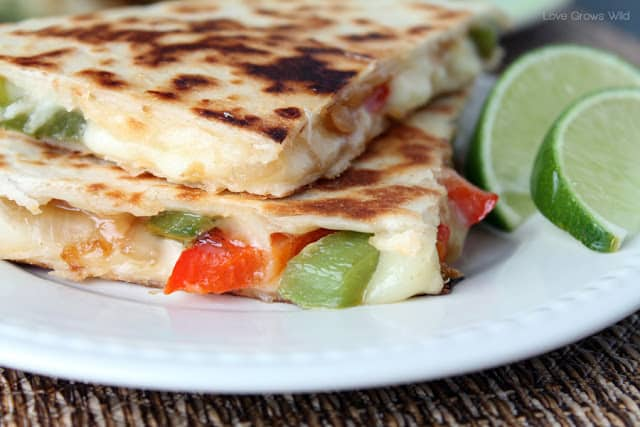 Fajita-Style Quesadillas by LoveGrowsWild.com for The Recipe Critic