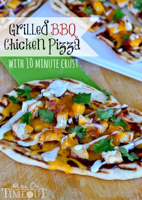 Grilled-BBQ-Chicken-Pizza-Recipe-10-Minute-Crust