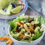 Steak Fajita Salad with Avocado Dressing