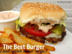The Best Burger and secret sauce