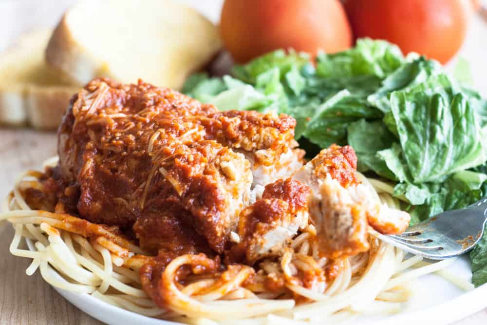 Slow cooker chicken parmesan the recipe critic slow cooker chicken parmesan print prep time forumfinder Gallery
