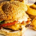 Grilled Chipotle Ranch Burgers