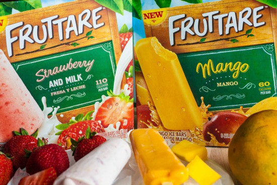 Two boxes of Fruttare ice bars.