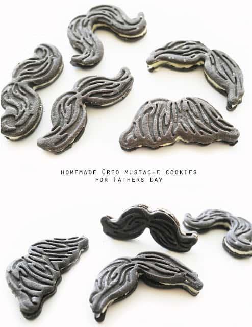 oreo mustache cookies