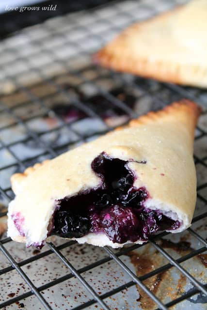 Blueberries and Cream Hand Pies by LoveGrowsWild.com for The Recipe Critic