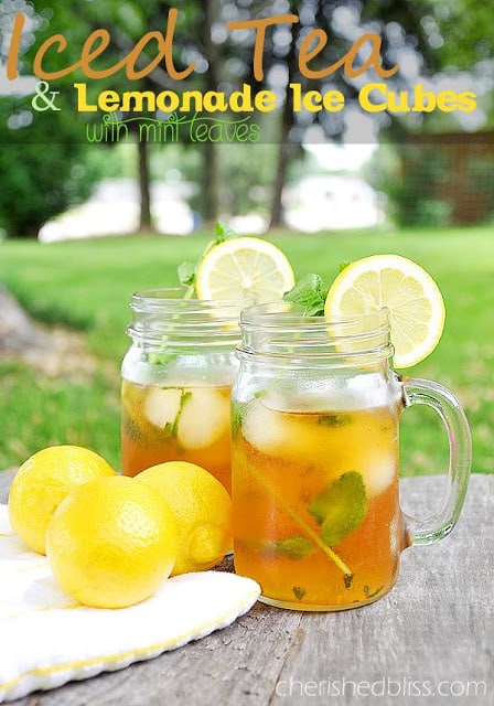 Iced Tea & Lemonade Ice Cubes