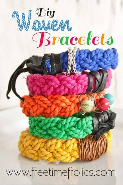 DIY Woven Bracelets