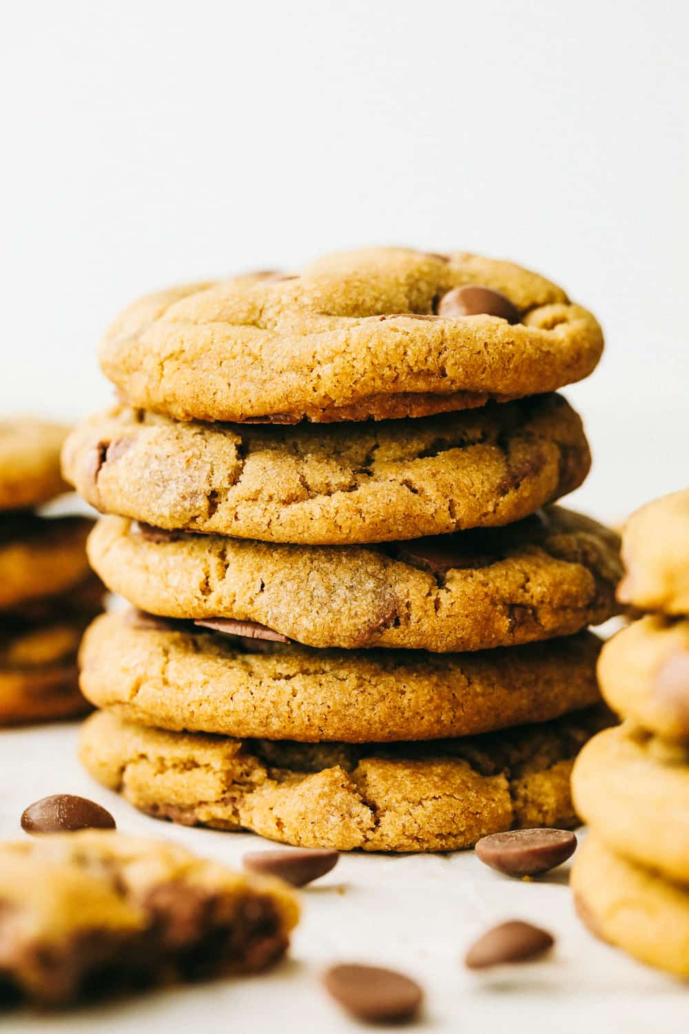 Browned Butter Chocolate Chip Cookies that are thick chewy and amazing.