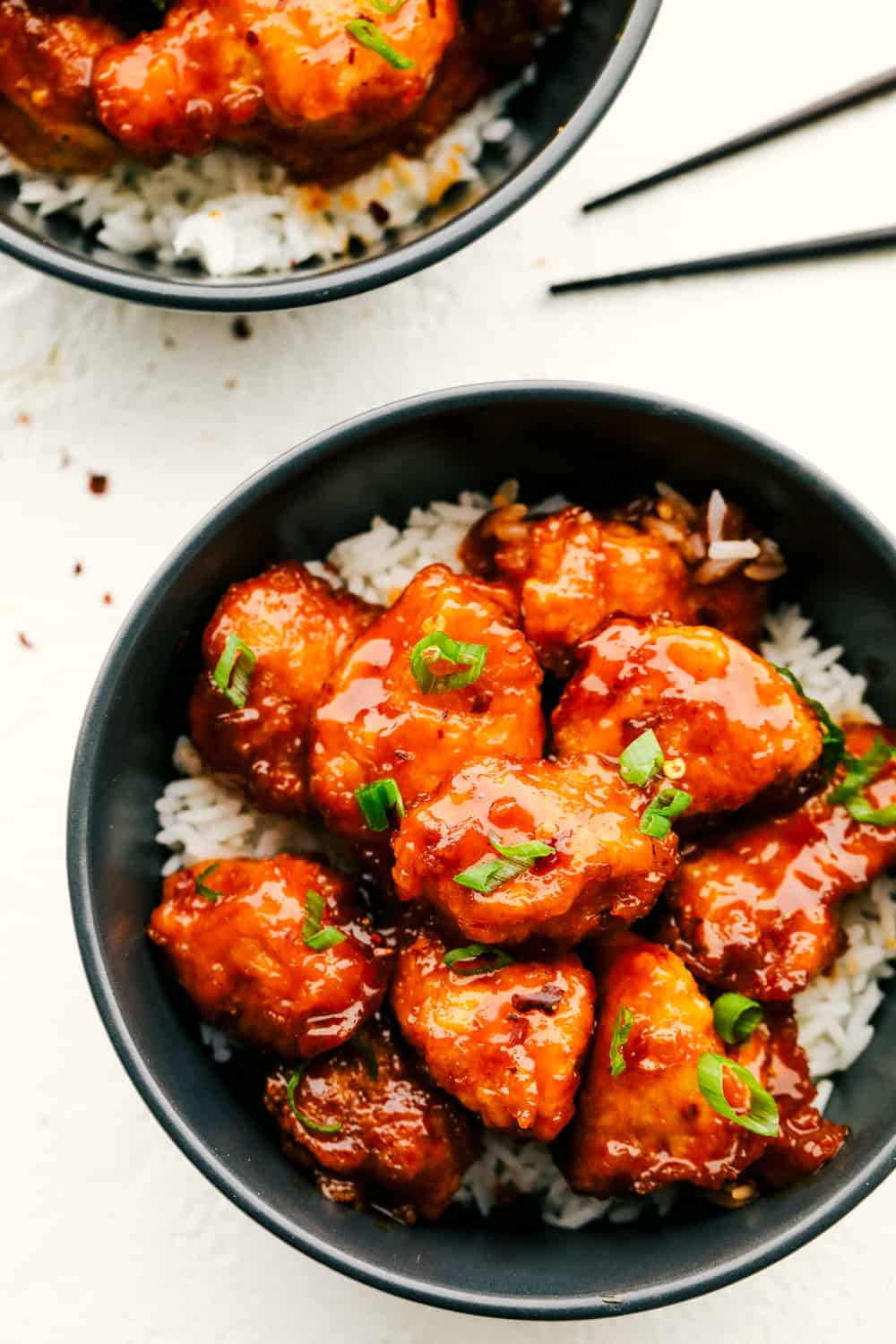 Sweet and Spicy perfect homemade Firecracker Chicken.