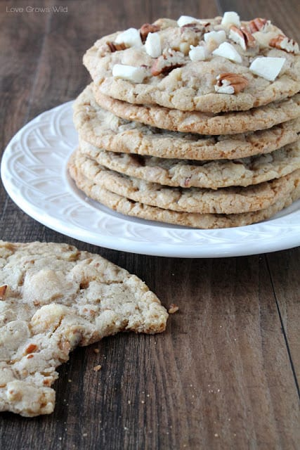 Giant White Chocolate Pecan Cookies by Love Grows Wild for The Recipe Critic
