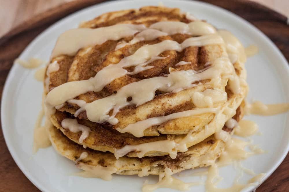Cinnamon Roll Pancakes The Recipe Critic