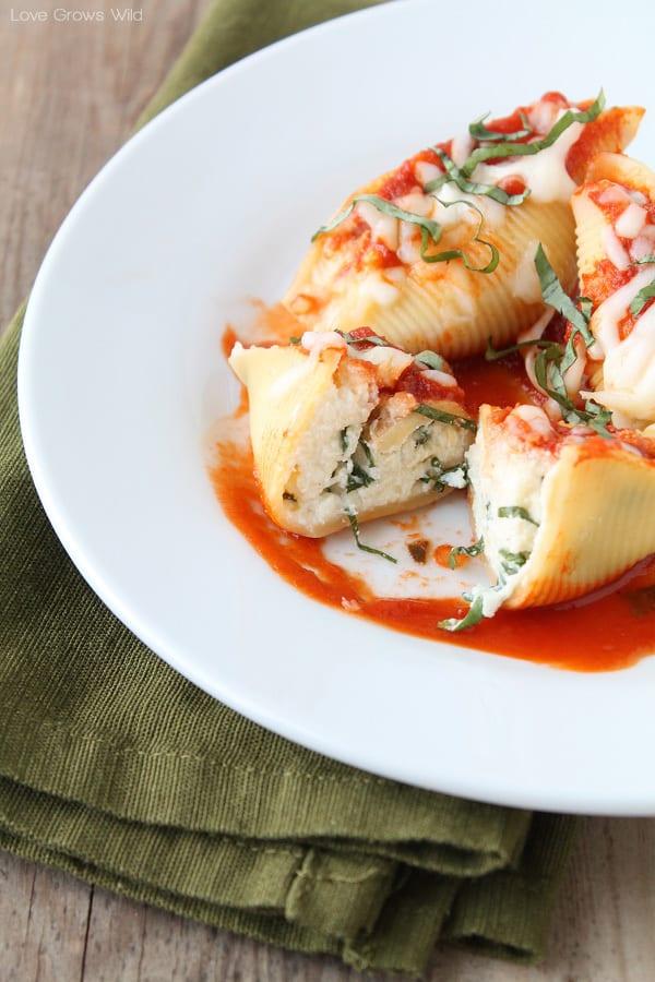 three cheese stuffed shells the recipe critic