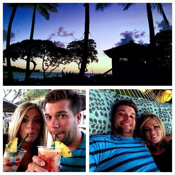 Photos from Hawaii drinks, hammock, sunset.