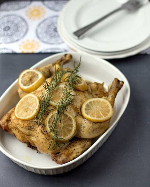 Crockpot Lemon Rosemary Chicken from This Gal Cooks