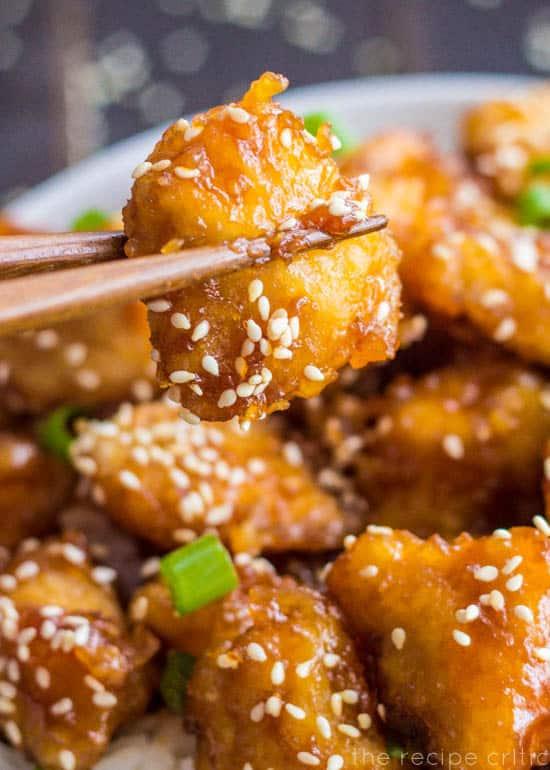 Baked Honey Sesame Chicken
