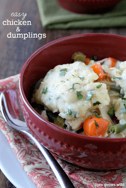 Chicken and Dumplings by Love Grows Wild for The Recipe Critic