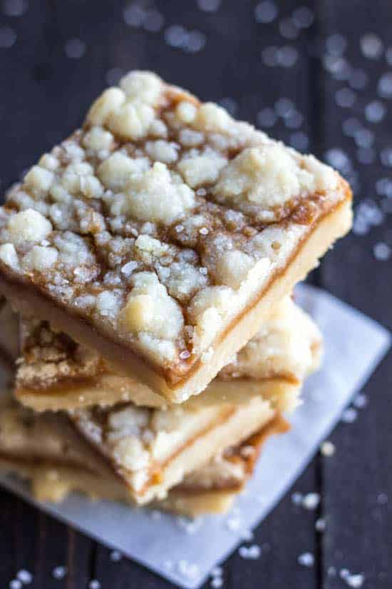 Salted Caramel Butter Bars | The Recipe Critic