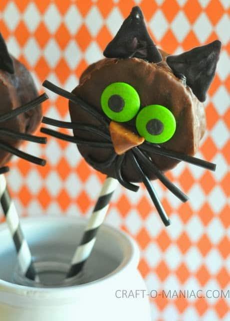 chocolate cat halloween treats2