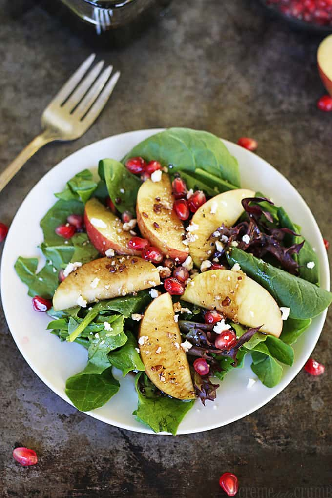 Apple Pomegranate Salad with Honey Balsamic Dressing