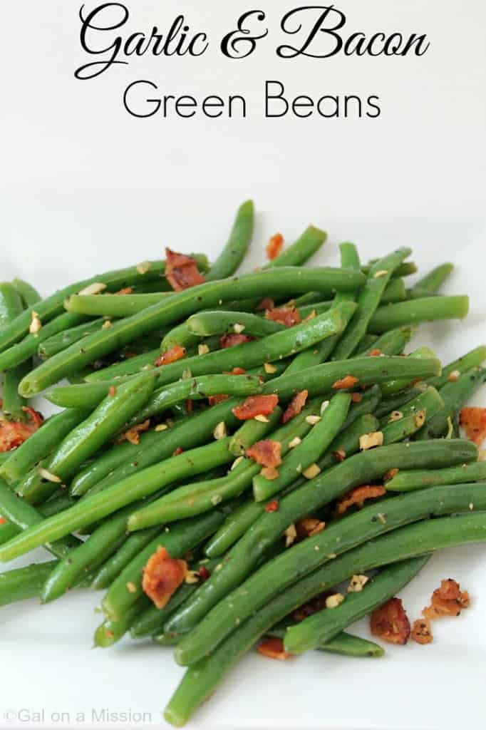 Garlic and Bacon Green Beans from Gal on a Mission