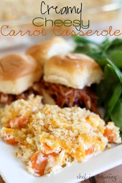 Creamy Cheesy Carrot Casserole - Best 50 Holiday Sides, Dinners, & Dessert Recipes. The Recipe Critic, Alyssa Rivers.