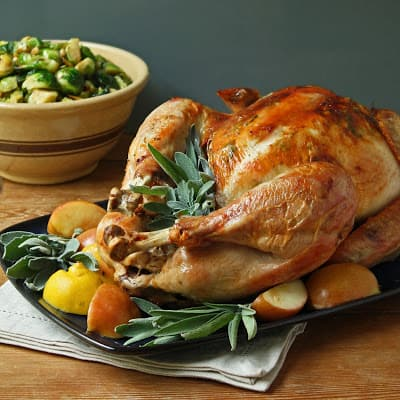 Roasted Turkey - Best 50 Holiday Sides, Dinners, & Dessert Recipes. The Recipe Critic, Alyssa Rivers.