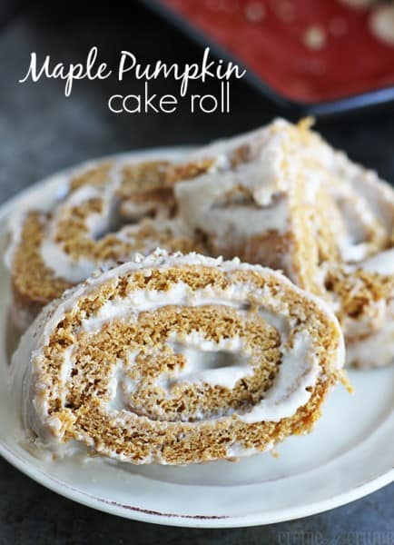 Maple Pumpkin Cake Roll - Best 50 Holiday Sides, Dinners, & Dessert Recipes. The Recipe Critic, Alyssa Rivers.