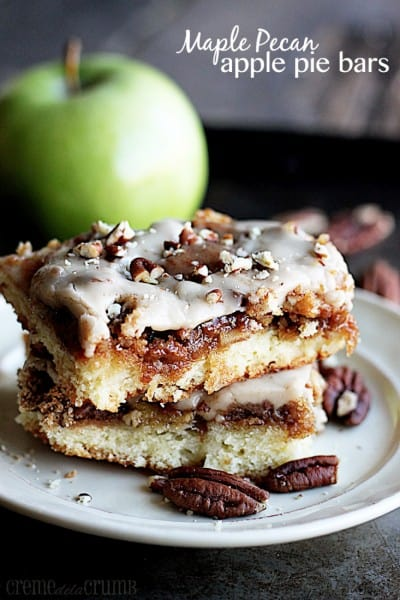 Maple Pecan Apple Pie Bars - Best 50 Holiday Sides, Dinners, & Dessert Recipes. The Recipe Critic, Alyssa Rivers.