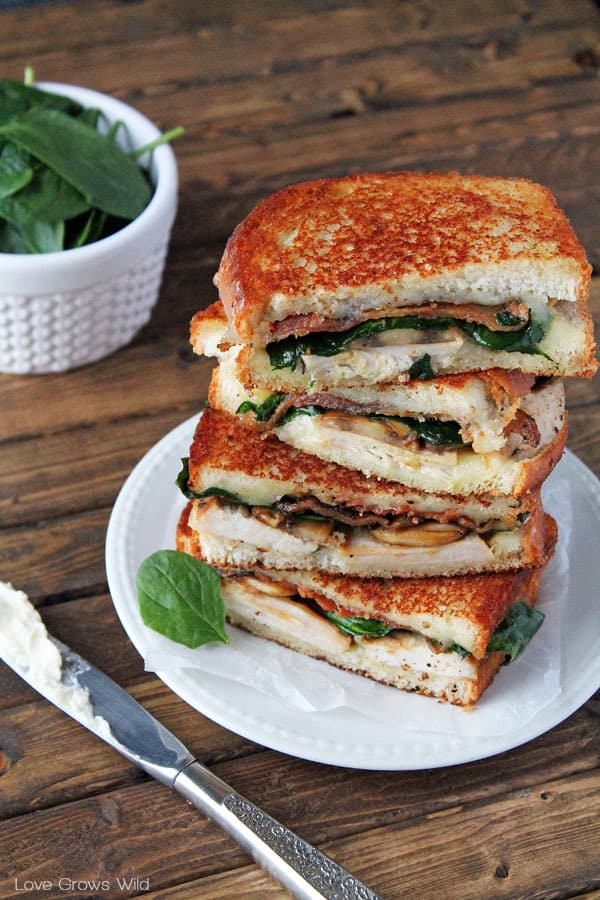 Grilled Turkey Florentine Sandwiches by Love Grows Wild for The Recipe Critic