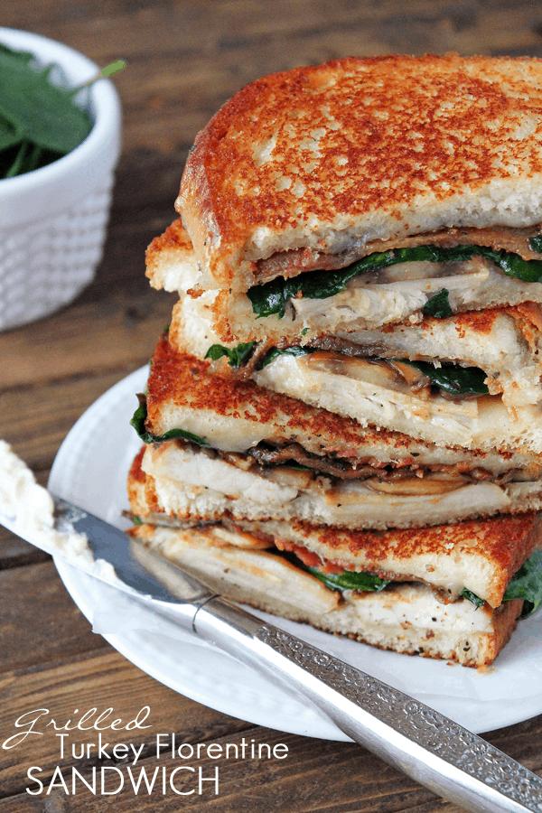Grilled Turkey Florentine Sandwich | The Recipe Critic