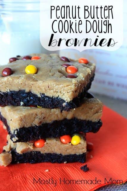 Peanut Butter Cookie Dough Brownies 1
